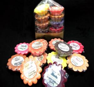 10 samples - Scallop Wax Tarts-sample sampler samples party favor favors gift christmas birthday anniversary yankee scentsy gracie candle wax melt melts tart tarts fragrance color scent scents scented scallop chunk chip chips bar bars breakaway present lush victoria secret bath body works single fluted warmer burner