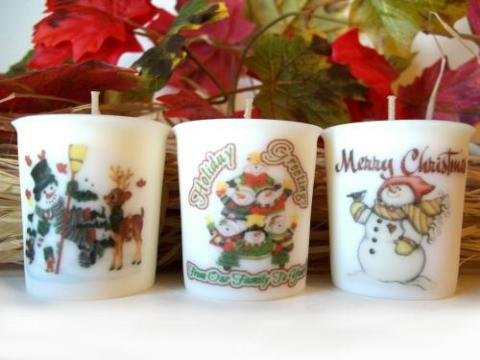 Candle - Christmas Votive Set-