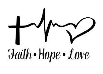 Vinyl Decal - Faith Hope Love-