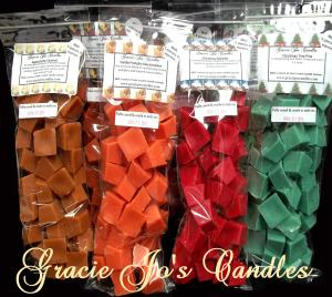 Bulk Bundle - 5 pk Large bags of Chunk Wax Tarts-chunk wax tarts melts chips break away bar gracie yankee scentsy lush victoria fragrance scent scented cube cubes candle candles christmas birthday anniversary home decor prim primitive country shabby chic aroma air warmer burner