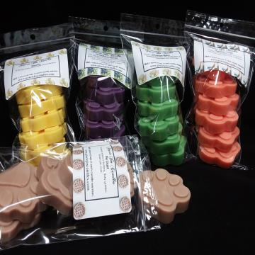 (Bulk Bundle) - 20 pk Paw Prints-wax tart melts candles scents fragrance gracie scentsy yankee paw print animal cat dog lush