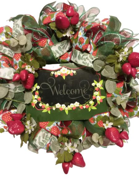 (Wreath) Strawberry Welcome
