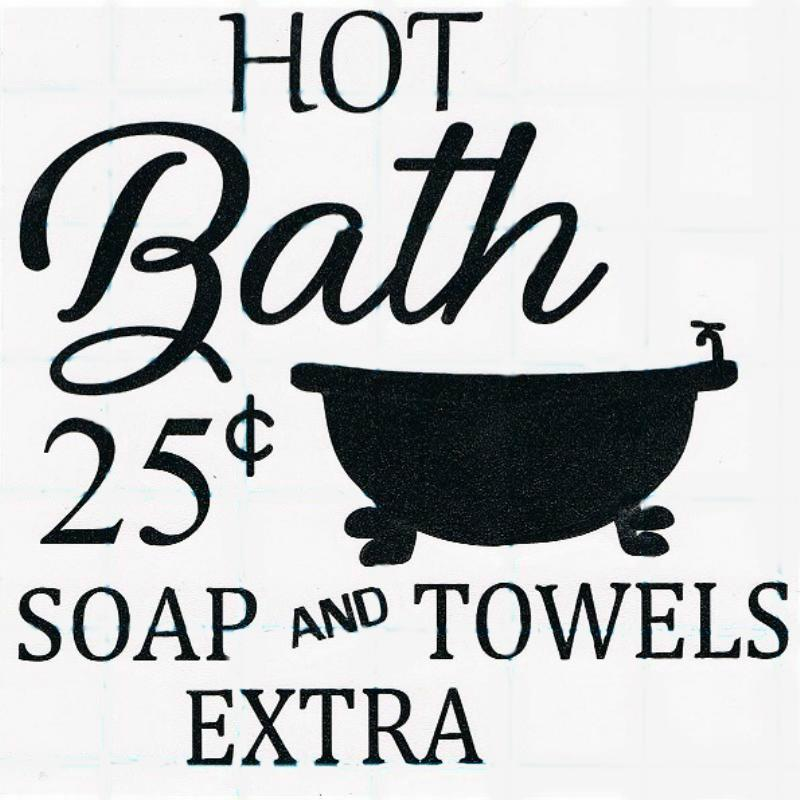 Vinyl Decal - Hot Bath-vinyl, decal, sticker, home, car, office, school, party, favors, custom