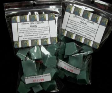 Absinthe-ready to ship chunk wax tarts melts candles fragrance scent gracie jo yankee scentsy lush victoria secret Christmas Thanksgiving Birthday Holiday Anniversary Halloween