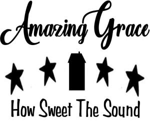 Vinyl Decal - Amazing Grace-