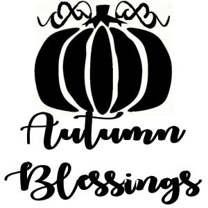 Vinyl Decal - Autumn Blessings-