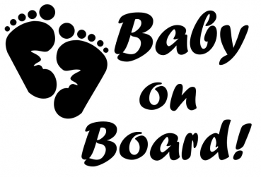 Vinyl Decal - Baby On Board-