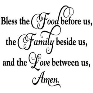 Vinyl Decal - Bless The Food Before Us-