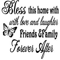 Vinyl Decal - Bless This Home-vinyl, decal, sticker, home, car, office, school, party, favors, custom
