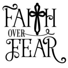 Vinyl Decal - Faith Over Fear-