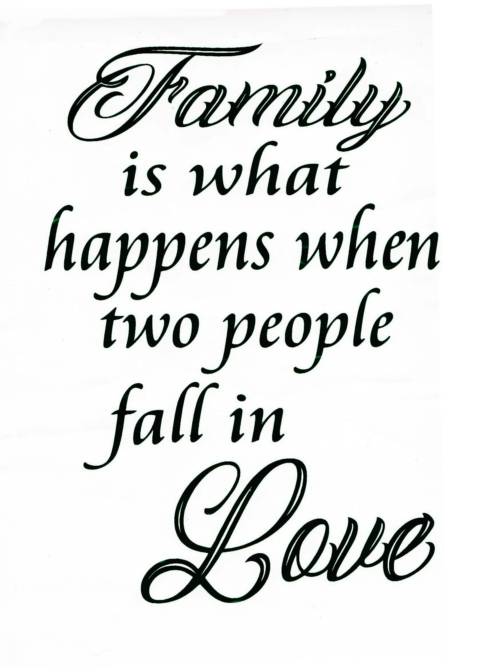 Vinyl Decal - Family Love