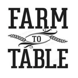 Vinyl Decal - Farm To Table-