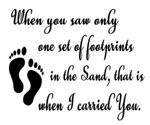 Vinyl Decal - Footprints in the Sand-