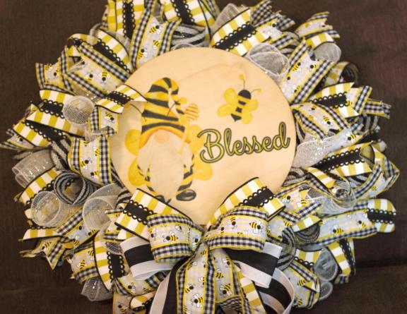 (Wreath) Bee Blessed-
