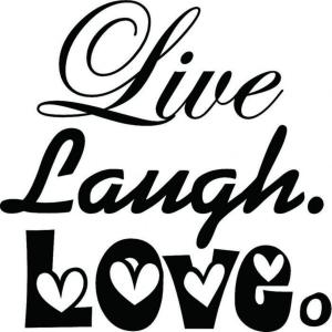 Vinyl Decal - Live Laugh Love with Hearts-
