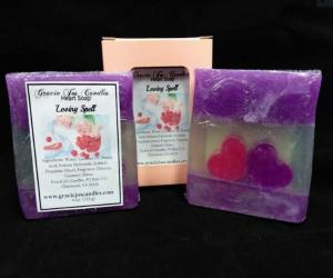 Artisan Soap - Loving Spell-artisan, soap, royalty, gracie, bath, bar, heart, love spell, victoria, secret