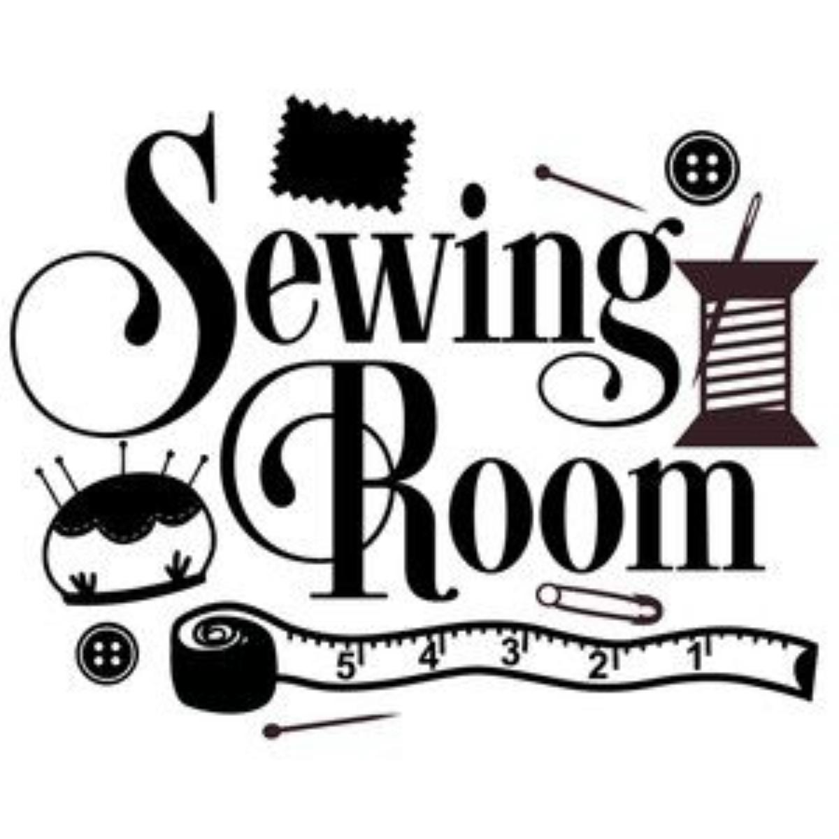 Vinyl Decal - Sewing Room-