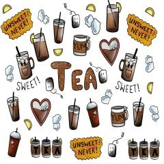 S- Sweet Tea Stickers-