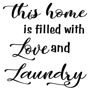 Vinyl Decal - Love & Laundry-